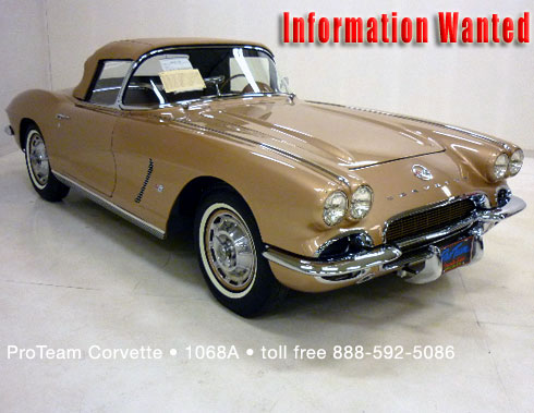 Information Wanted: 1962 Styling Corvette
