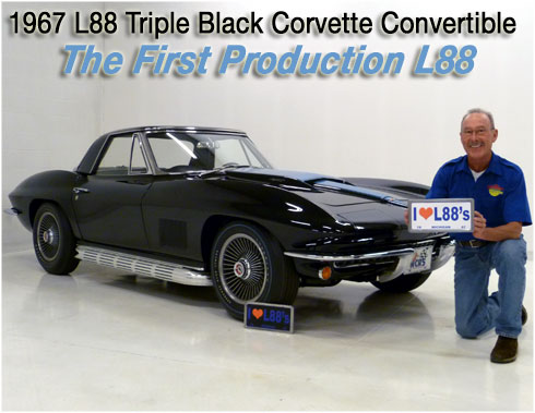 Corvette Stingray Split Window Sale on 1967 Corvette Convertible L88  1st Production L88     1 Of 20 L88s